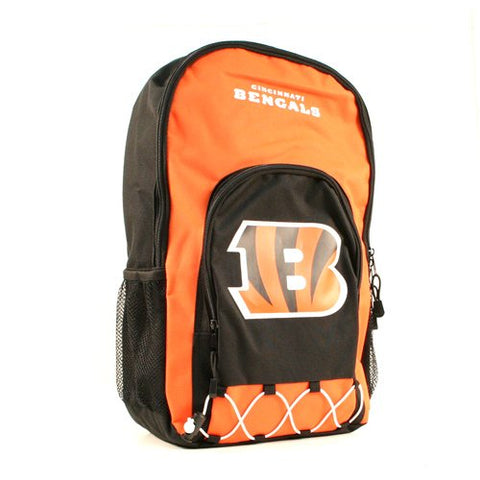 "NFL Licensed Pro Elite Series Bungee Backpack (20""x12""x6"") (Cincinnati Bengals)"