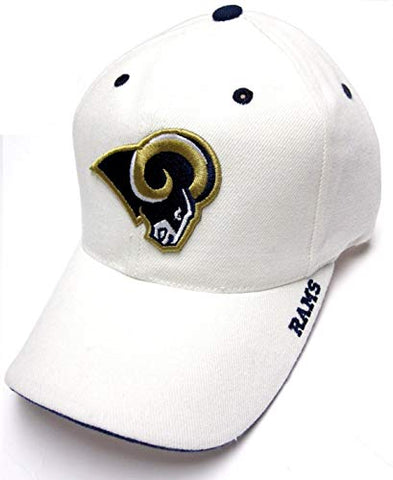 Los Angeles Rams White Cream Structured Hat Cap Adult Men's Adjustable