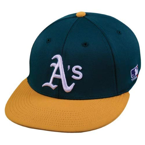 Oakland Athletics MLB OC Sports Two Tone Flat Brim Adult Men's Stretch Flex Fit.
