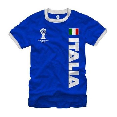 Fifth Sun FIFA 2014 World Cup Soccer Italia Ring Royal Blue T-Shirt (X-Large)