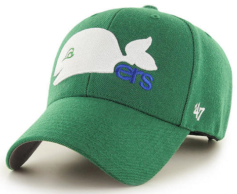 Hartford Whalers NHL '47 MVP Vintage Throwback Green Hat Cap Adult Men's Adjustable