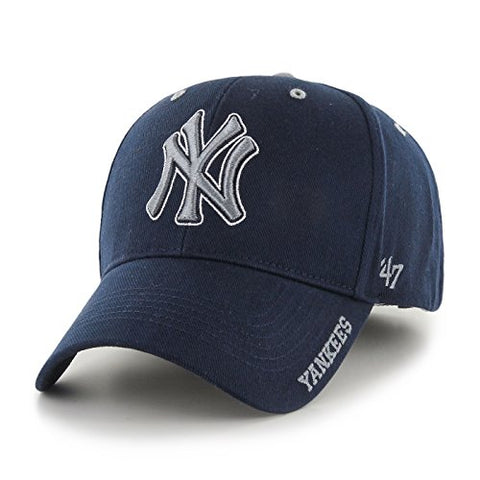 "New York Yankees 47 Brand MLB ""Frost MVP"" Structured Adjustable Hat - Navy"
