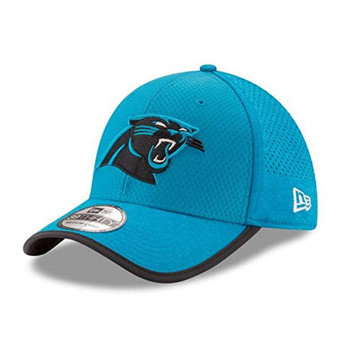 New Era Carolina Panthers Training Camp Official 39THIRTY Flex Hat, Blue, S/M