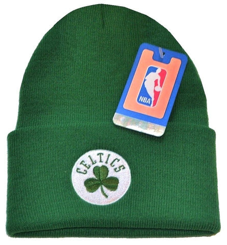 Boston Celtics NBA Green w  Logo Cuffed Knit Hat Cap Ski Snow Winter Beanie 689dd3796cc