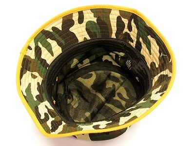 76b65ef53ee27 ... Pittsburgh Steelers Camo Bucket Golf Fishing Sun Hat Cap Embroidered  Text Logo ...