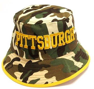 f27056678 ... Black Yellow Classic POM Ball Knit Hat Cap Winter Ski Beanie.   14. Pittsburgh  Steelers Camo Bucket Golf Fishing Sun Hat Cap Embroidered Text Logo