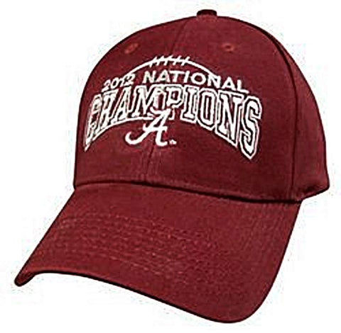 Captivating Headwear Alabama Crimson Tide NCAA 2012 National Champions Hat Cap Red Adult Men's Adjustable