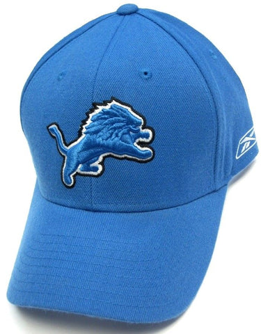 Detroit Lions NFL Reebok Sideline Basic Solid Blue Coaches Hat Cap Fitted Sizes