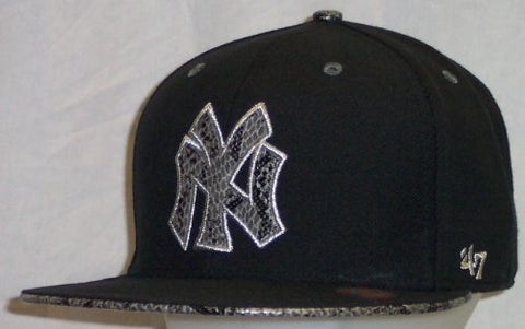 New York Yankees Cooperstown Black Snake Pit Metallic 47 Pro Wool Fitted 7 1/2