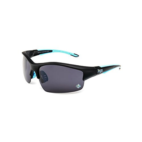 CA Accessories MLB Tampa Bay Rays Power Hitter Sunglasses, Black