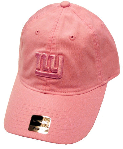 New York Giants NFL Reebok Pink Caddy Relaxed Slouch Hat Cap Women's NY Logo