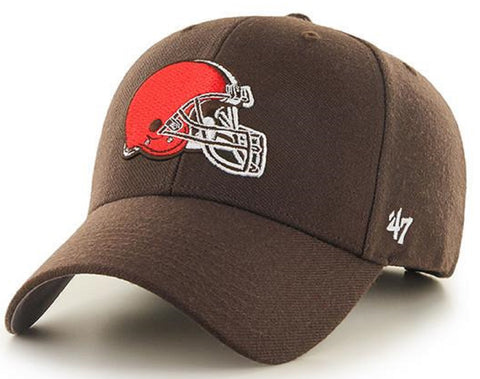 Cleveland Browns '47 MVP Basic Brown Structured Hat Cap Adult Men's Adjustable