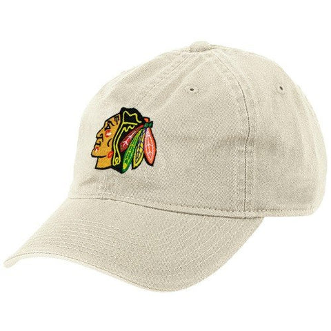 Reebok Chicago Blackhawks Stone Basic Logo Adjustable Slouch Hat