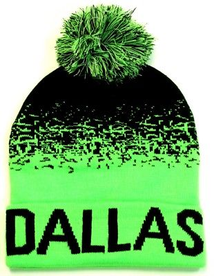 Dallas Cowboys Neon Green Classic POM Ball Knit Hat Cap Winter Ski Beanie