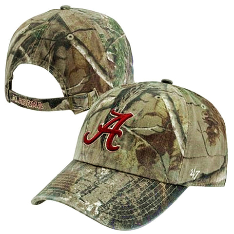 Alabama Crimson Tide NCAA '47 Realtree Camo Clean Up Hat Cap Adult Adjustable