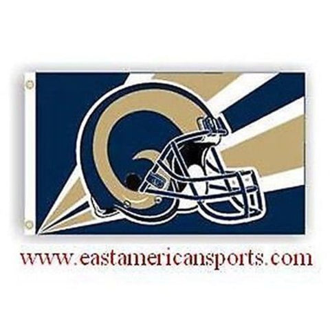 St Louis Rams NFL 3' x 5' Flag Pole Fan Banner Tailgate Football Grommets