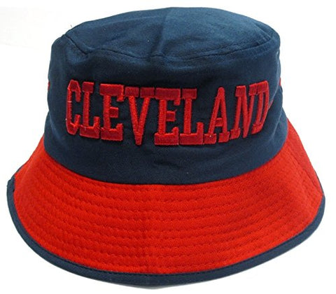 Cleveland City Blue Bucket Golf Fishing Sun Hat Cap Embroidered Text Logo