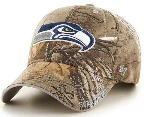 Seattle Seahawks NFL '47 MVP Realtree Frost Camo Hat Cap Adult Men's Adjustable