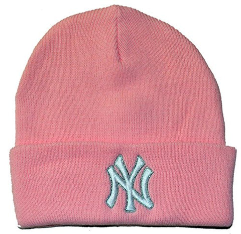New York Yankees MLB '47  Womens Beanie Pink Rose Winter Knit Hat