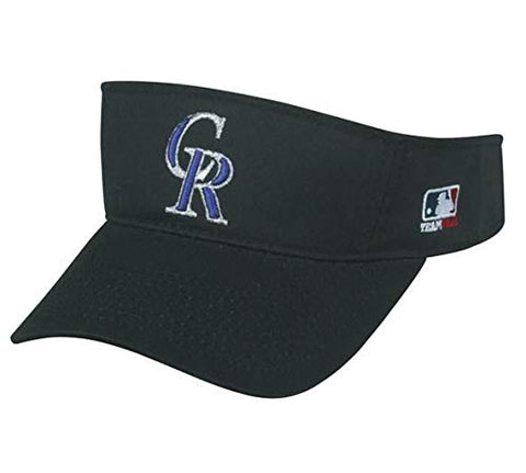 Colorado Rockies MLB OC Sports Black Golf Sun Visor Hat Cap Adult Men's Adjustable