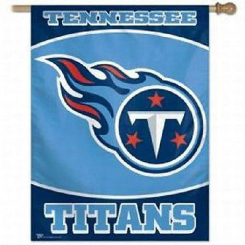 Tennessee Titans NFL 27 x 37 Vertical Hanging Wall Flag Logo Banner Fan Bar Room