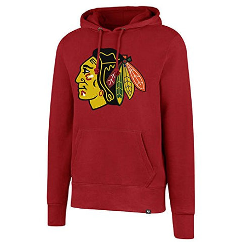Chicago Blackhawks NHL 47 Brand Red Headline Hoodie Hooded Pullover Sweatshirt Adult Men's