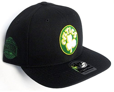 Boston Celtics MLB 47 Brand Sure Shot Hat Cap Black Flat Brim Adult Men's Snapback Adjustable