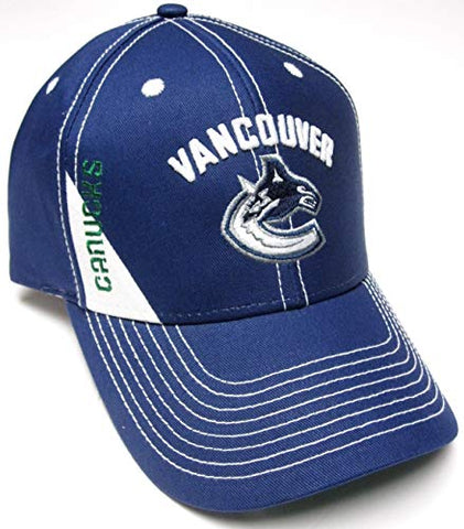 Vancouver Canucks Reebok NHL Blue W/ White Stitching Adjustable Hat Cap