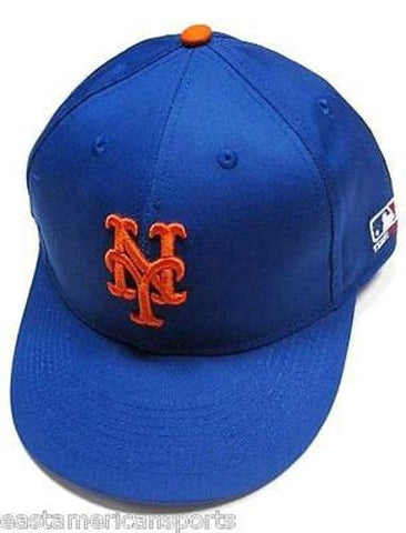 New York Mets MLB OC Sports Hat Cap Royal Blue w/ Orange NY Logo Team MLB Velcro