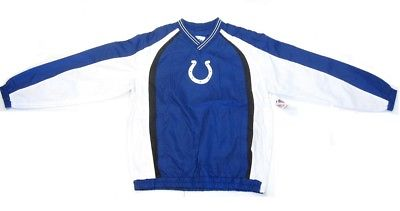 Indianapolis Colts NFL Blue / White Pullover Jacket Windbreaker Men's Medium M