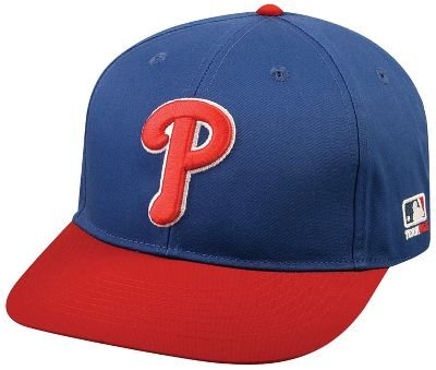 "OC Sports MLB-300 MLB Cotton Twill Baseball Cap - Philadelphia Phillies Alternate Royal Red / 6 7/8"" - 7 1/2"""