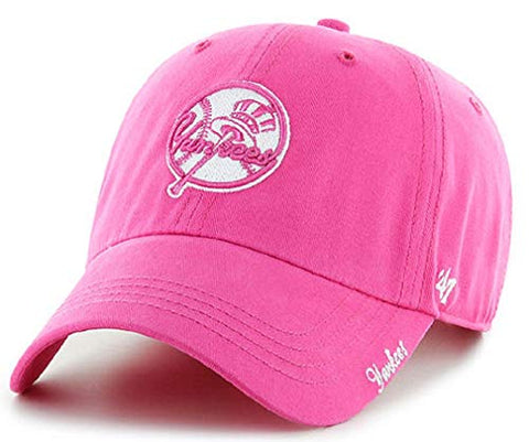 '47 New York Yankees MLB Clean Up Miata Hot Pink Magenta Hat Cap Adult Women's Adjustable