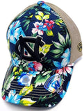 University North Carolina Tar Heels NCAA Hat Cap Hawaiian Flower Shore Gold Mesh