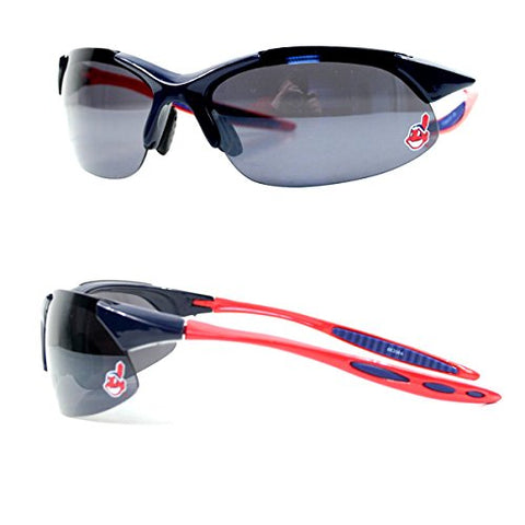 Cleveland Indians MLB Blade Rimless Sunglasses Chief Wahoo Logo