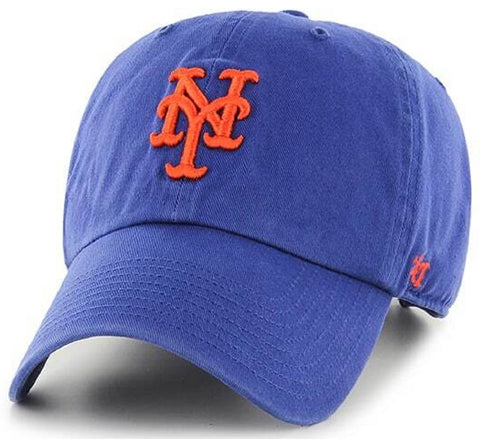New York Mets MLB '47 Royal Blue Clean Up Relaxed Slouch Hat Cap Adult Adjustable