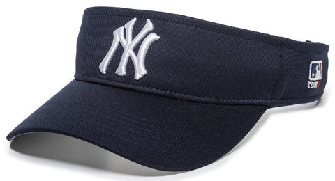 New York Yankees MLB OC Sports Sun Visor Golf Hat Cap Navy Blue w/ White NY Logo