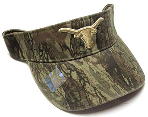 Captivating Headwear Texas Longhorns NCAA Camo Tonal Logo Golf Sun Visor Hat Cap Adult Men's Adjustable
