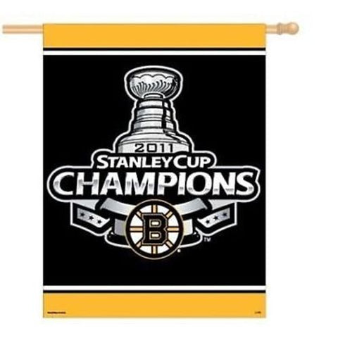 Boston Bruins NHL 27 x 37 CHAMPIONS 2011 Flag Banner
