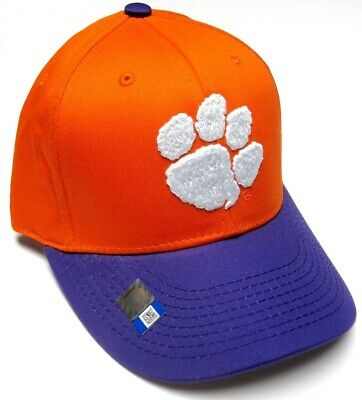 Clemson Tigers NCAA OC Sports Orange Purple Two Tone Hat Cap Adult Adjustable