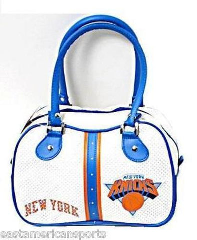 New York Knicks NBA White Ethel Bowler Handbag Bag Purse Case Women Concept Logo