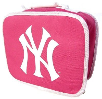 New York Yankees MLB Pink Girls Insulated Lunch Box Bag Cooler School Case Kids
