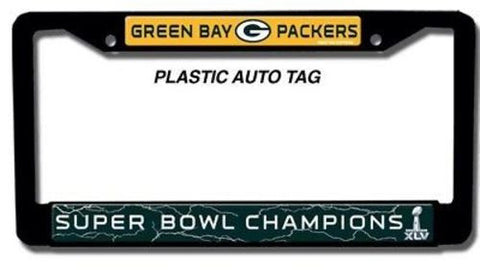 Green Bay Packers License Plate Frame SUPER BOWL XLV 45