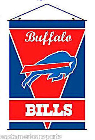 Buffalo Bills NFL 28 x 40 Wall Banner Verticle Flag Hanging Poles Bar Room