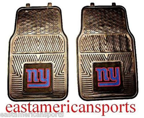 New York Giants NFL 2 Piece Floor Rubber Mats Front Car Auto SUV Truck Winter