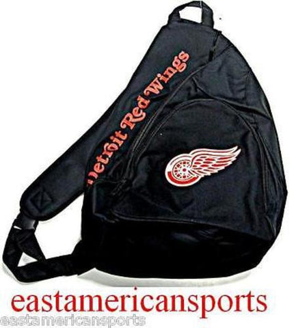 Detroit Red Wings NHL Black Book Bag Camera Back Pack School Slingshot Case