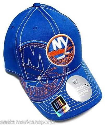 New York Islanders NHL Reebok Blue Draft Hat Cap Stitched Logo Flex Fit L/XL