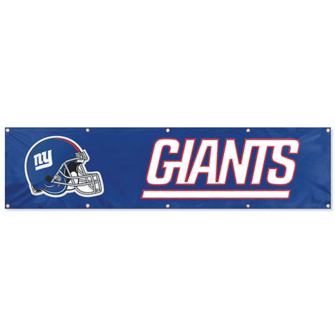 New York Giants NFL 2' x 8' Feet Long Hanging Embroidered Flag Banner Fan Bar