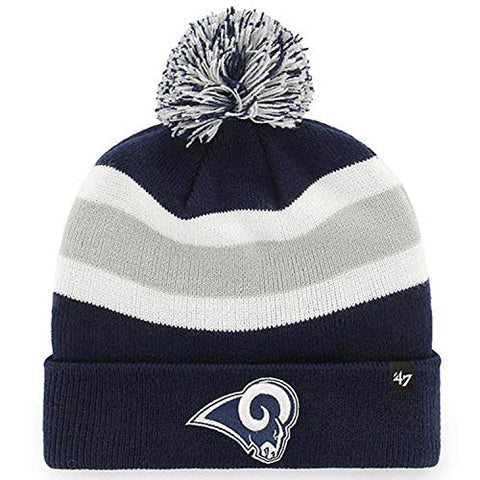 '47 Men's Los Angeles Rams Winter Beanie (Navy, One Size)