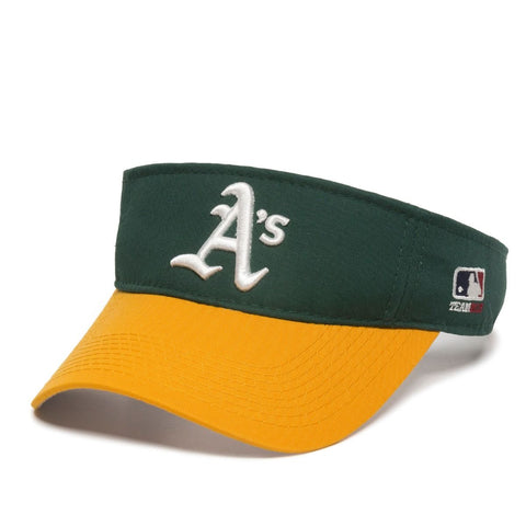 OC Sports Oakland Athletics A's MLB Two Tone Golf Sun Visor Hat Cap Adult Men's Adjustable