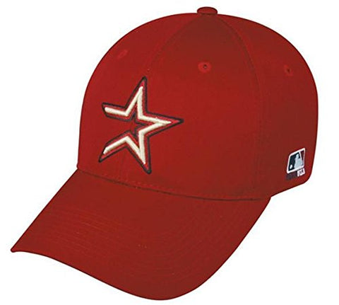 Houston Astros MLB Throwback Retro Hat Cap Red/Gold Star Adult Men's Adjustable